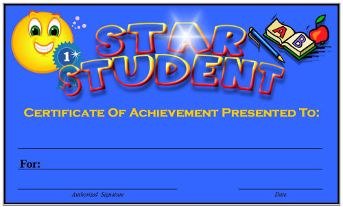 These Colorful Certificates Are Sure To Inspire And Reward Your Students.  Feel Free To Save Them To Your Computer For Future Use.